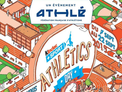 Kinder athletic day : Samedi 14/09 au Stade Mas Barral à 9h