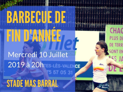 Inscription au Barbecue de fin de saison - Mercredi 10 juillet au stade Mas Barral